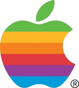 Apple rainbow logo